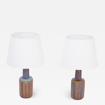 Einar Johansen Pair of Tall Mid Century Modern Ceramic Table Lamps by Einar Johansen for Soholm