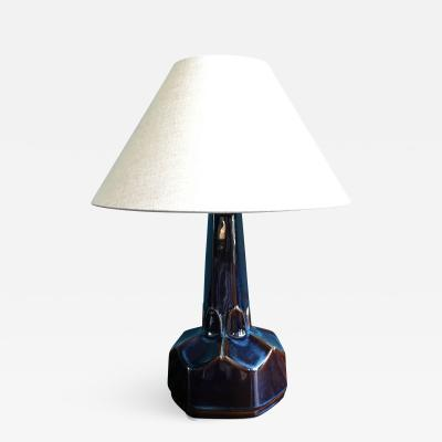 Einar Johansen Small Danish Ceramic Table Lamp by Einar Johansen for Soholm Stentoj 1960s