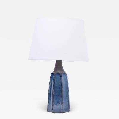 Einar Johansen Tall Blue Stoneware Table Lamp Model 1042 by Einar Johansen for S holm