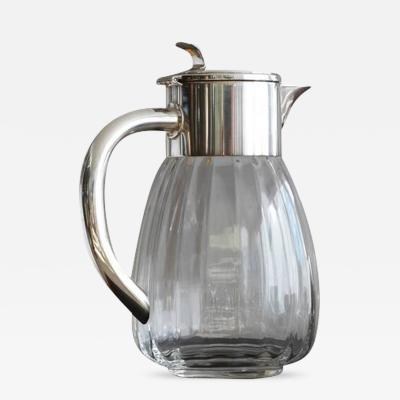 Eisenberg Lozano Silver Plate and Glass Water Carafe by Eisenberg Lozano Made in Germany
