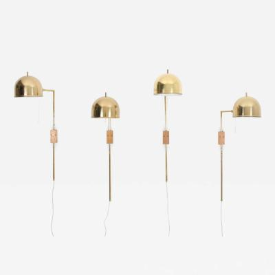 Eje Ahlgren Scandinavian Midcentury Wall Lamps in Brass by Bergboms Sweden