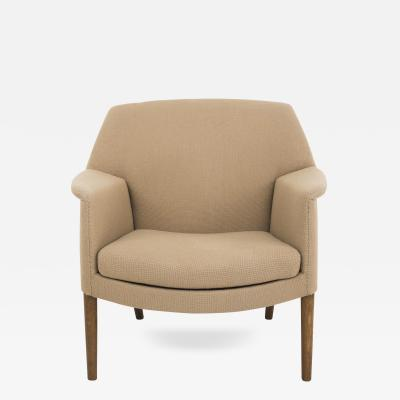 Ejner Larsen Aksel Bender Madsen Lounge Chair in Wool