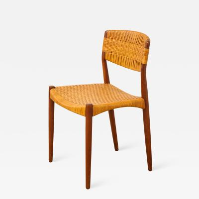 Ejner Larsen Aksel Bender Madsen Madsen Larsen Cane Back Chair for Willy Beck