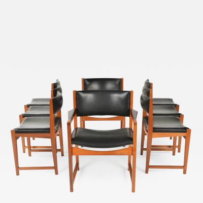 Ejner Larsen Aksel Bender Madsen Set of Eight Chairs
