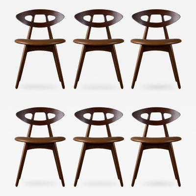 Ejvind A Johansson Ejvind A Johansson Set of 6 Eye Chairs
