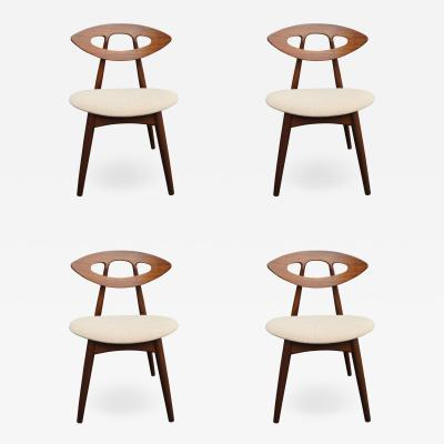 Ejvind A Johansson Set of Four Teak Eye Chairs by Ejvind A Johansson for Ivan Gern M belfabrik