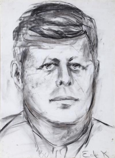 Elaine De Kooning John F Kennedy 10