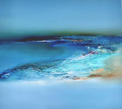 Elaine Jones Original signed oil painting by Elaine Jones Into The Blue 2020