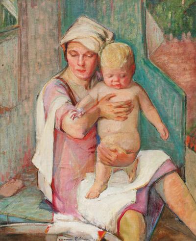 Elanor or Eleanor Ruth Mrs Joseph E Colburn Blue Bench Bath Time