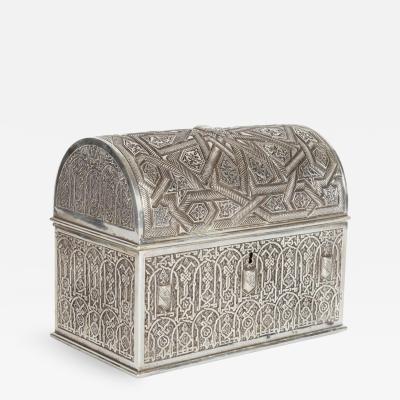 Electroplate Islamic Alhambra Model Casket Box by Rafael Contreras Granada Spain