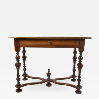Elegant 19th Century French Baroque Style Fruitwood Writing Table Circa 1880