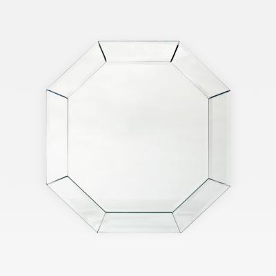 Elegant 8 Sided Mirror With Double Bevel 1960s