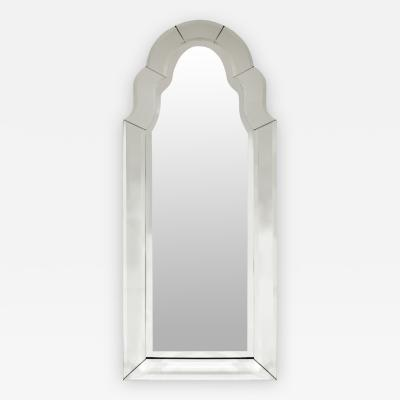 Elegant Arc Top Beveled Wall Hanging Mirror 1960s