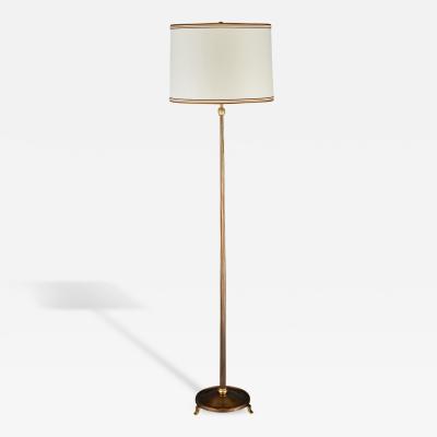 Elegant Bronze Floor Lamp by Delisle France ca 1950