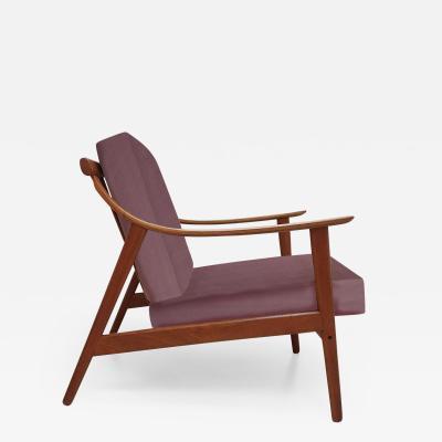 Elegant Customized Danish Easy Chair in Lelievre Velvet 1960s