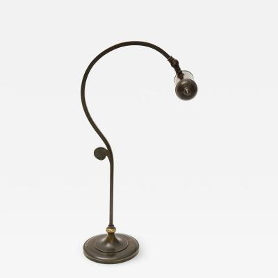 Elegant Danish Brass Desk Lamp circa 1910 1920