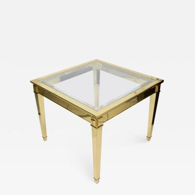 Elegant End or coffee Table in Bronze circa 1980