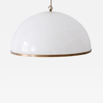 Elegant Mid Century Modern Textured Lucite Pendant Lamp or Hanging Light 1970s