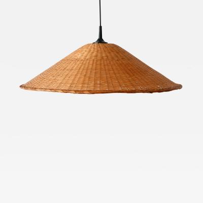 Elegant Mid Century Modern Wicker Pendant Lamp or Hanging Light Germany 1960s