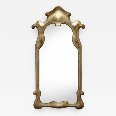Elegant Mirror with Soft Gold Lacquer Finish 1940s
