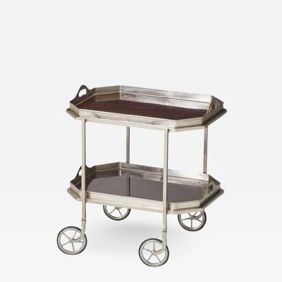Elegant Nickel Plated Bar Cart
