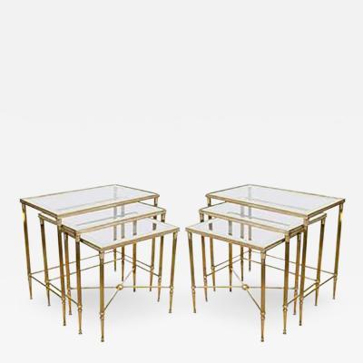 Elegant Pair of Italian Mirrored Nesting Tables