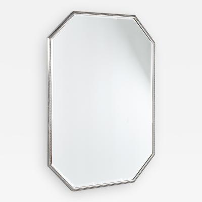 Elegant Rectangular Mirror with Delicately Beaded Frame