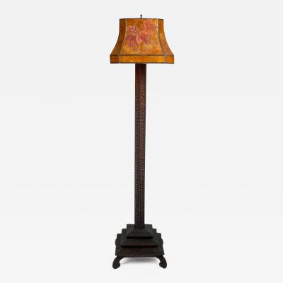 Elegant Tramp Art Floor Lamp Illustrated in Book