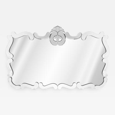 Elegant Wall Hanging Mirror 1940s