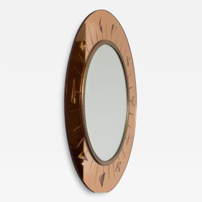 Elegant Wall Mirror by Cristal Art Italy circa 1960