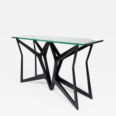 Elegant ebnised console table