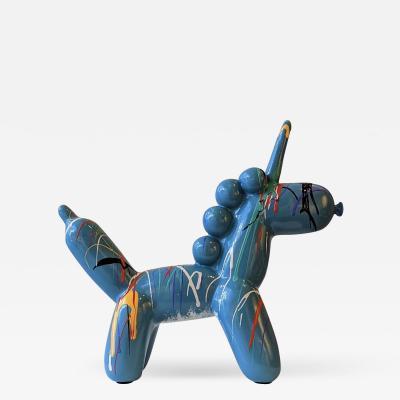 Elena Bulatova Blue Balloon Unicorn 1
