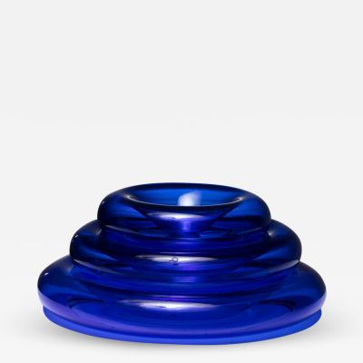 Eleonore Peduzzi Riva Pomeri Blue Glass Centerpieces by Eleonore Peduzzi Riva for Vistosi
