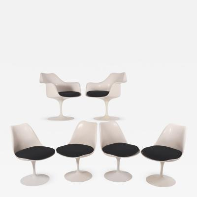 Eliel Saarinen Eliel Saarinen Tulip dining chairs for Knoll International