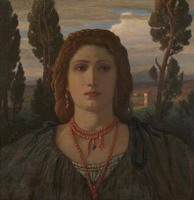 Elihu Vedder The Coral Necklace Italy