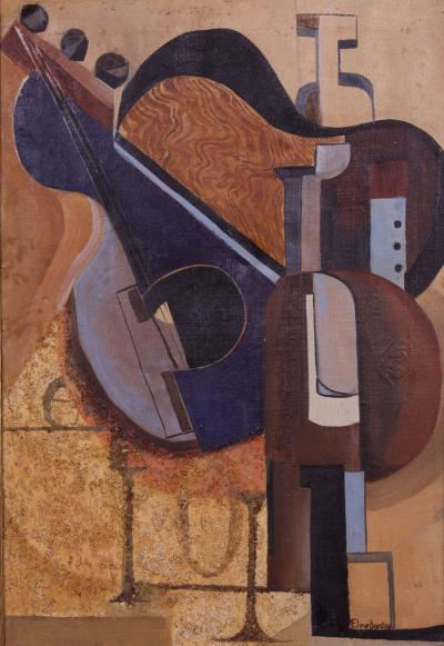 Eline Barclay Cubist Composition American ca 1960