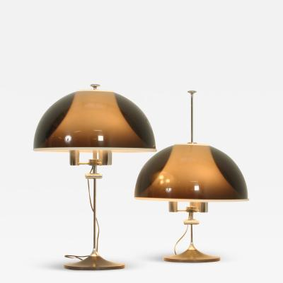 Elio Martinelli Pair of Adjustable Table Lamps by Elio Martinelli