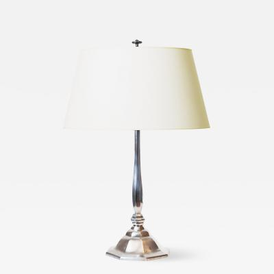 Elis Bergh Fine and Faceted Art Deco Lamp by Elis Bergh Herman Bergmans Konstgjuteri