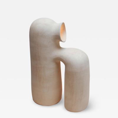 Elisa Uberti REFUGE WHITE STONEWARE TABLE LAMP BY ELISA UBERTI