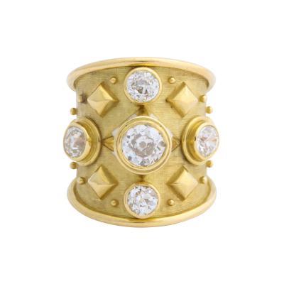 Elizabeth Gage Elizabeth Gage Diamond and Enamel Ring