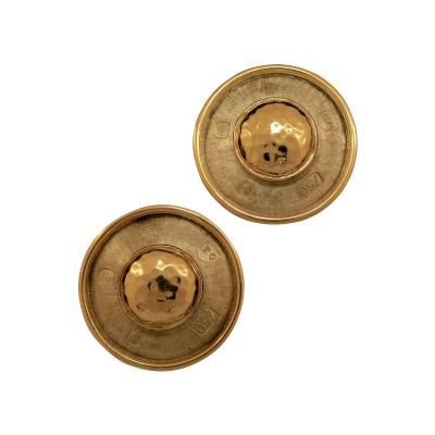Elizabeth Gage Elizabeth Gage Two Tone Clip Earrings