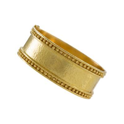 Elizabeth Locke Elizabeth Locke Hammered Gold Cuff Bracelet