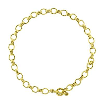 Elizabeth Locke Elizabeth Locke Hammered Oval Link Necklace