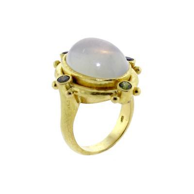 Elizabeth Locke Elizabeth Locke Moonstone Cabochon Gold Ring
