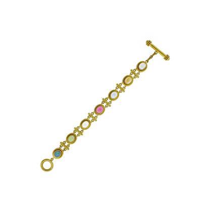 Elizabeth Locke Elizabeth Locke Multi Gemstone Toggle Bracelet