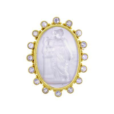 Elizabeth Locke Elizabeth Locke Venetian Intaglio and Pearl Pendant Brooch