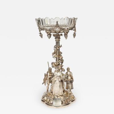 Elkington Mason Co a Rare Important Historic Silvered Bronze Centerpiece