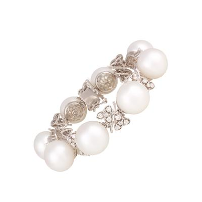 Ella Gafter Australian White South Sea Pearl and Diamond Bracelet