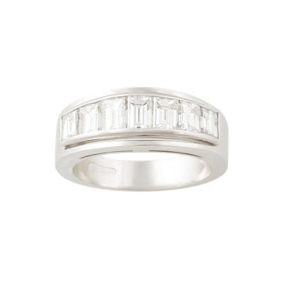 Ella Gafter Ella Gafter Baguette Diamond White Gold Band Ring