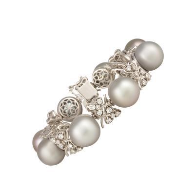 Ella Gafter Ella Gafter Black Tahitian Pearl and Diamond Bracelet